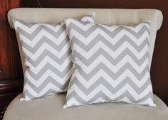 Can't wait to see these! :)    Gray and White Zigzag Pillows -Chevron Pillows