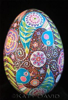 Friday Egg: Blue Bird Swirl ©Katy David For more information, go to http://katydavidart.blogspot.com/2014/10/friday-egg-blue-bird-swirl.html