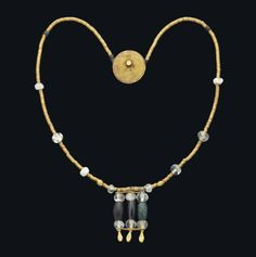 A WESTERN ASIATIC GOLD, ROCK CRYSTAL AND STONE BEAD NECKLACE -  CIRCA 2900-2800 B.C.     Christie's