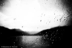 Drops of rain like tears on a window
