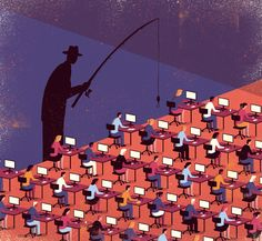 Davide Bonazzi's editorial #illustrations - polished, cheeky and textural