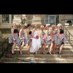 unique zebra wedding idea :) love it!  My bridesmaids wud have hot pink shoes