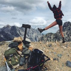 One of my very favorite people on this earth, leaping for joy at our grand view of the Grand Tetons… And you best believe it was earned.