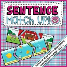 *K-2nd Grade*This activity has many uses, including correcting semantic absurdities, lengthening MLU, describing objects, and formulating sentences, but was designed specifically around the following Common Core Standard: ELA-LITERACY.L.1.5.B.Define words by category and by one or more key attributes               (e.g., aduckis a bird that swims; atigeris a large cat with            stripes).
