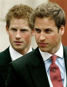 Prince Harry and Prince William. USed to love Prince William, but Prince Harry grew up to be the hot one!