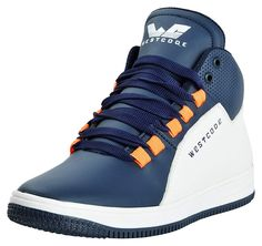 3e781ec2d8e4b WESTCODE Mens Blue Boots Synthetic Leather High Top Casual Shoes and  Sneakers