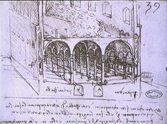 Leonardo Da Vinci-Progetto architettonico , arcate