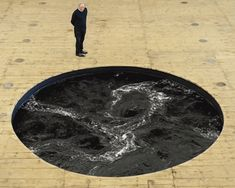 anish kapoor's endless black whirpool at galleria continua