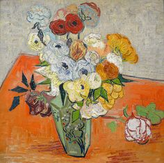Vincent Van Gogh - Still Life with Roses and Anemones