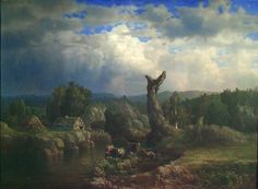 Lars Hertervig, «Sommerlandskap i tordenvær»
