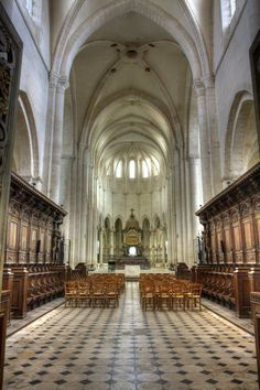 Cistercian abbey with a perfect acoustic-full 12 second decay. Must go on next visit to France to sing in. B Architecture, Romanesque Architecture, Sabbatical, Cathedral Church, France Europe, Cathedrals, Decay, Acoustic, Castles