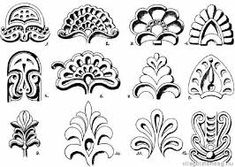 "Képtalálat a következőre: ""art deco motívumok"" Chip Carving, Wood Carving, Brave, Renaissance Jewelry, Clay Ornaments, Ancient Symbols, Fabric Manipulation, Flower Pictures, Glyphs"
