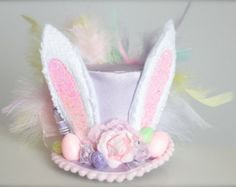 Over the Top Pink Bunny Easter Bunny Ears Mini by LilBirdsCouture