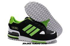 best service ba63c 42481 Chaussures De Fitness Mode - Adidas Originals Zx 750 Femme Noir Vert Blanc