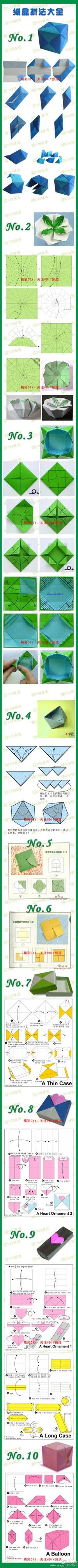 10 origami boxes