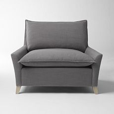 chair and a half rather than a loveseat...simple and cute