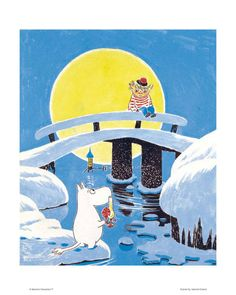 Moomin and his friend Too-Ticky (Trois Pommes in French). A very nice illustration! Character Design, Painting, Illustration Art, Tove Jansson, Art, Anime, Pictures, Fairy Tales, Book Illustration
