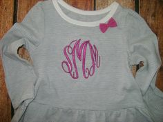 Cute Little Monogrammed  Shirt by BibsandBurps on Etsy