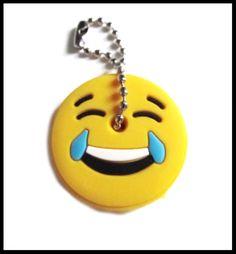 """Cache-clé émoticône """" MDR """" en silicone - clef - mdr - lol - smiley - emoticone - emoji"""