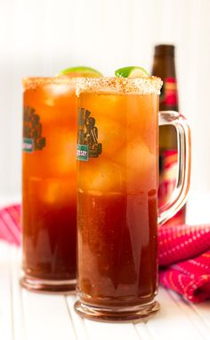 The Ojo Rojo (Red Eye) - a classic Mexican hangover cure that's like a beer bloody mary! : noshon it Cocktail Drinks, Alcoholic Drinks, Beverages, Fancy Drinks, Wine Recipes, Mexican Food Recipes, Bloody Mary Recipes, Bloody Mary Beer Recipe, Appetizers