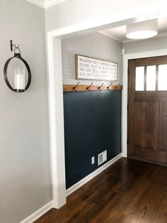 diy wohnen DIY Easy Entryway Makeover with Paint! Home Renovation, Home Remodeling, Mindful Gray, Diy Home Decor, Room Decor, Diy Casa, Vestibule, Up House, Country Decor