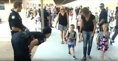 Two Children Of Fallen Police Officer Escorted On First Day Of School via LittleThings.com