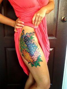 Thigh Tattoo Designs for Women1 (11)