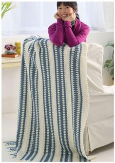 Laid Back Blue Crochet Blanket