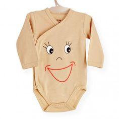 Body Smiley #body #bebe #invierno #smiley #sonrisa #cruzado #marron #kinousses