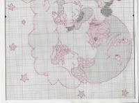 Gallery.ru / Фото #111 - 1 - Fleur55555 Stitch Disney, Disney Cross Stitch Patterns, Cross Stitch Baby, Baby Sleep, Diagram, Map, Sleep Tight, Watch, Quilt Cover