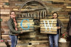 We had such a great time crafting tonight with this Austin art teacher and her long-time best friend! You ladies reminded us so much of ourselves! We can't wait to have you two back in the studio! And good luck to your art studio business!! #artist #teacher #bestfriends #wood #crafts