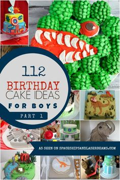 112 Birthday Cakes for Boys & Boys Birthday Cake Ideas