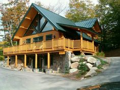 5 Reasons to Build a Log Cabin Vacation Home . Log Cabin House Plans, Log Cabin Living, Log Cabin Homes, Log Cabins, Porche Chalet, Home Safety Tips, Basement Windows, Cabins And Cottages, Future House