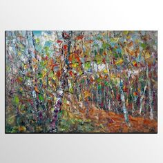 Abstract Art, Abstract Landscape Painting, Oil Painting, Living Room Wall Art, Canvas Painting, Abstract Painting, Heavy Texture Painting