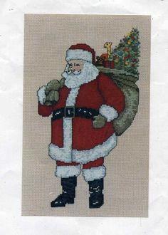 Art Ventures Antique Santa Charted graph for cross-stitch 1993 by Jean Lanning  #ArtVentures #Santa #Antiquesanta #Countedcrossstitch