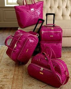 Think Pink! | Pink luggage, Bag and Studded converse