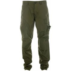 Stone Island Army Green Utility Trousers ($330) ❤ liked on Polyvore featuring pants, bottoms, jeans, landry bottoms, stone island pants, military green pants, green camo pants, stone island and army green pants