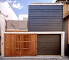 House D / Takeshi Hamada bardage gris Design Exterior, Exterior House Colors, Facade Design, Minimalist House Design, Minimalist Home, Residential Architecture, Interior Architecture, Mini Loft, Narrow House