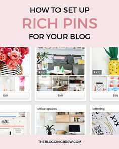 Take the next professional step for your blog with this super quick process for setting up rich pins!