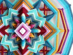 Ojo de Dios yarn mandala Butterfly Sky 18 inch by от JaysMandalas