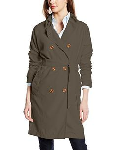 Vero Moda Women's VMMAKI SERENA LONG TRENCHCOAT A Trench Long Sleeve Trench Coat -  grey - UK 6 Stock up on your trench coat in a variety of colours by Vero Moda, available in Beluga, Moonbeam and Ombre Blue.Women's Trench CoatDouble Breasted2 PocketsBeltedLength: 92 cm in a size S  outfits, vero moda blazers, vero moda jacket, vero moda trench coat
