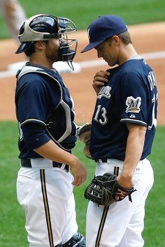 Jonathan Lucroy & Zack Greinke, Milwaukee Brewers
