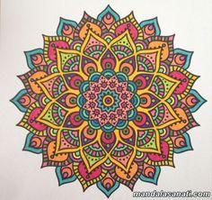 mandala boyama nasıl yapılır?