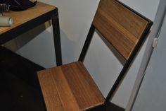 Sedia Ironwood realizzata con listelli di parquet grezzo