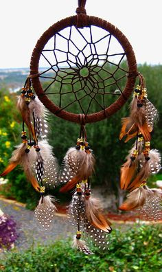 Mini Brown Dream Catcher. $17.00, via Etsy.