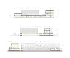 Competition design for a new Elementary School in Siheung city, South Korea #architecture #section Daniel Valle Architects