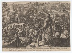 1550 - 80 - Stradanus, 1523-1605 (artist) - One of a collection of 5 engraved plates by Heinrich Gol(t)s(iu)s and Philip Galle after Stradanus, of military scenes showing armies of Charles V and the Medici in campaigns against the Turks. Soldiers with muskets and cannon.  The artwork in this is highly stylized, I suspect the artist was trying to flatter the Emperor by comparing him to classical/Roman emperors. Copyright - Anne S.K. Brown Military Collection at Brown University.