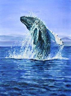 Breaching humpback whale by veracauwenberghs.deviantart.com on @deviantART