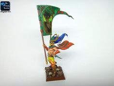 Exhibit: Wood Elves / Wanderers Glade Guard Standard Bearer<br/>Warheim: Chorąży Strażników Polany |The Fantasy Hammer