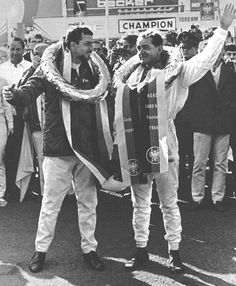Jo Bonnier and Phil Hill after winning the 19661000 km Nürburgring.